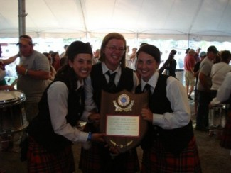 North American Champion Trophy for Grade 3 Pipe Band
