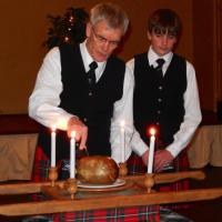 Robbie Burns 2014 Cutting the Haggis