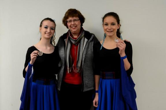 l-r:  Madison Westcott, Carol-Anne Bell, Finley van de Ven